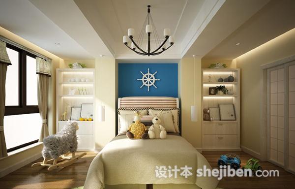 儿童房卧室3d模型