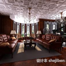 欧式客厅吊顶花格3d模型下载