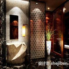 中式厕所3d模型下载