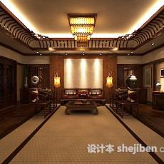 中式客厅沙发3d模型下载