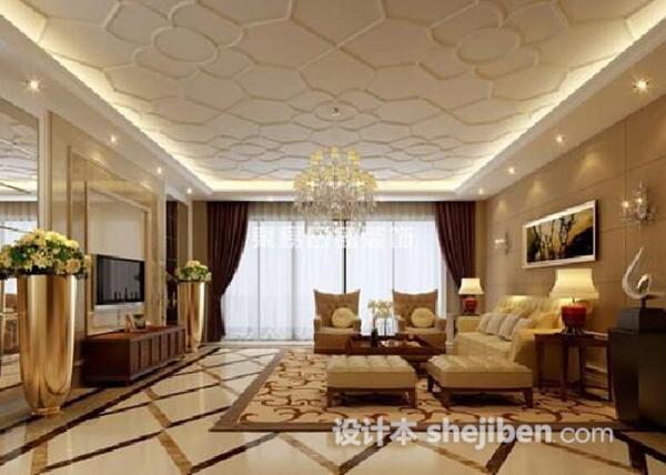 客厅吊顶吊灯3d模型