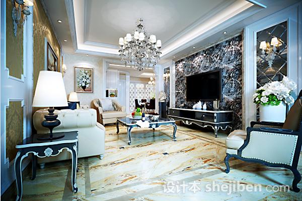 田园风格客厅3d模型