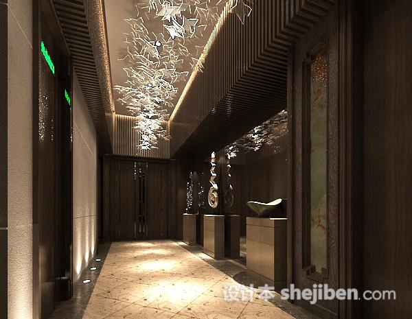 电梯走廊模型下载
