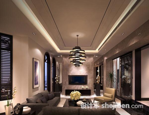现代客厅组合沙发模型