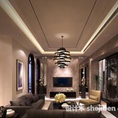现代客厅组合沙发3d模型下载