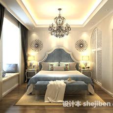 欧式卧室吊灯3d模型下载
