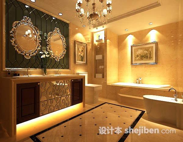 浴室3d模型下载