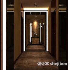 会所走廊3d模型下载