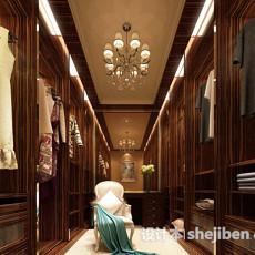 家装衣帽间更衣室3d模型下载