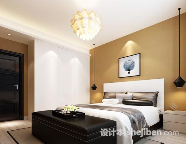 3d简约卧室模型
