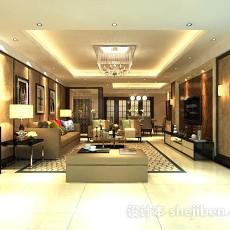 客厅地毯3d模型下载
