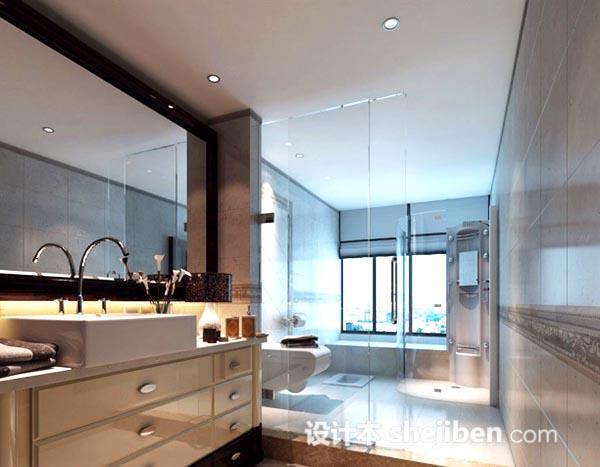 卫生间玻璃门模型