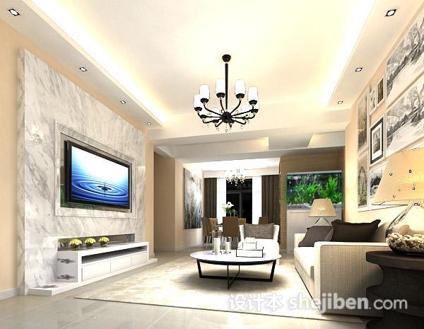 客厅鱼缸3d模型