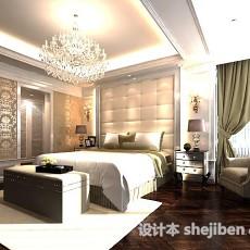 北欧卧室3d模型下载