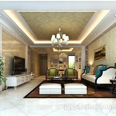 室内客厅吊顶3d模型下载