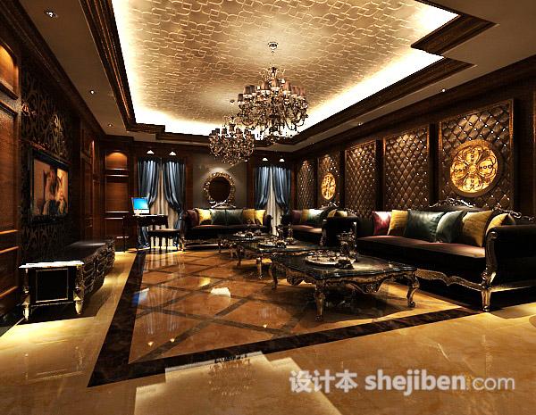 家装客厅餐厅模型