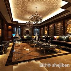 家装客厅餐厅3d模型下载