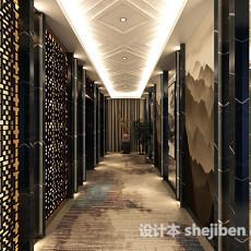 中式走廊3d模型下载