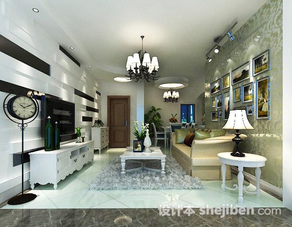现代客厅灯具3d模型