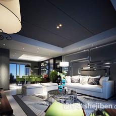混搭客厅3d模型下载
