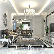 室内客厅电视墙3d模型下载