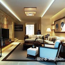 新中式客厅吸顶灯3d模型下载
