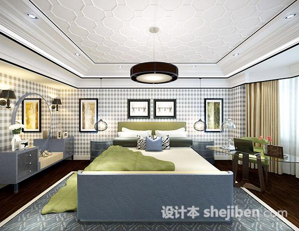 卧室背景墙模型
