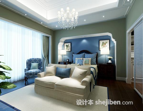 地中海卧室3d模型