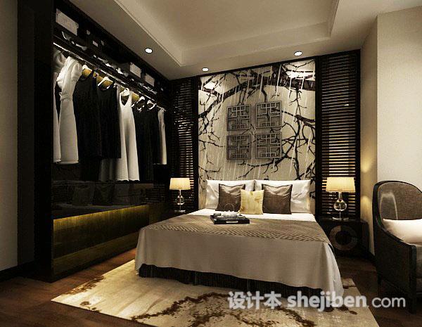 卧室衣柜模型