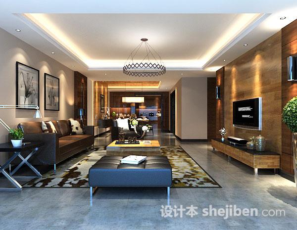 现代客厅挂画3d模型