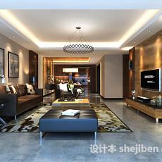 现代客厅挂画3d模型下载