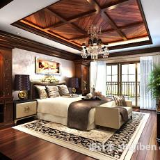 卧室花格吊顶3d模型下载