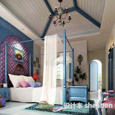 室内地中海风格卧室3d模型下载