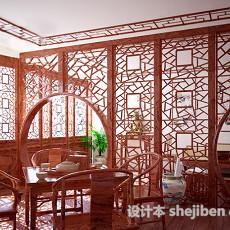中式茶室3d模型下载