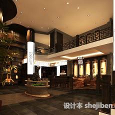 中式别墅护栏3d模型下载