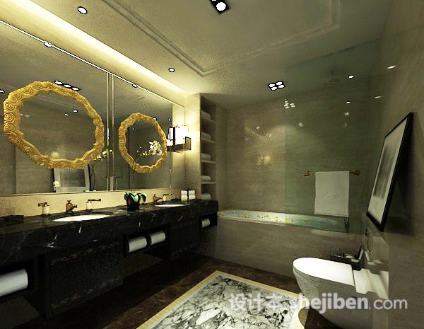 卫生间浴缸模型