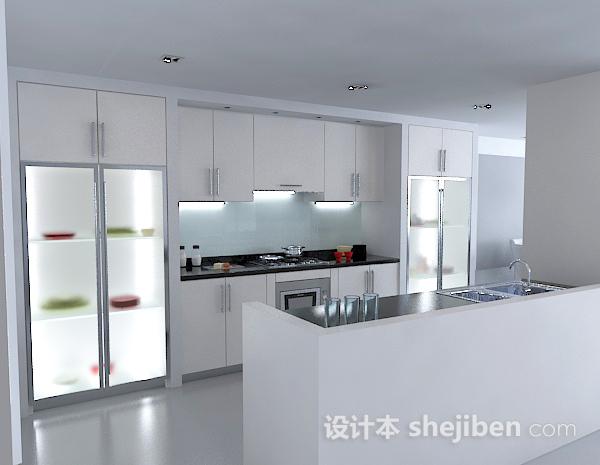 现代厨房模型免费下载3
