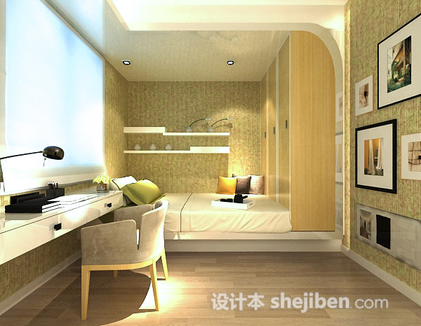 卧室书房整体模型