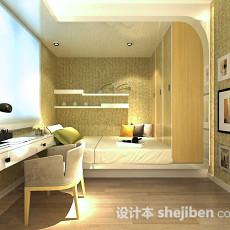 卧室书房整体3d模型下载
