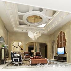 欧式客厅吊顶3d模型下载