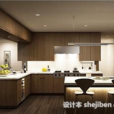 中式家庭厨房3d模型下载