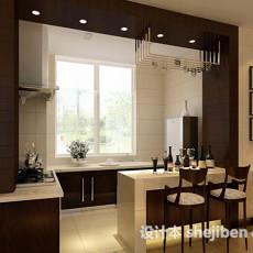 厨房带欧式吧台3d模型下载