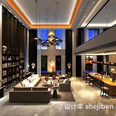 别墅中式客厅3d模型下载