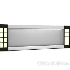 壁挂鱼缸3d模型下载