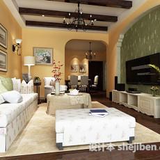 max欧式室内客厅3d模型下载