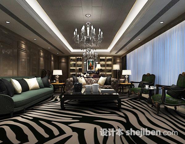 新中式客厅吊灯3d模型
