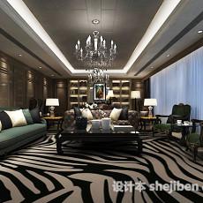 新中式客厅吊灯3d模型下载