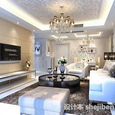 欧式客厅水晶灯3d模型下载