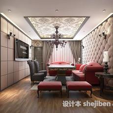 欧式客厅雕花板3d模型下载