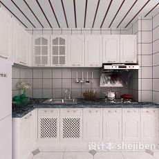 中式整体厨房套件3d模型下载